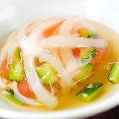 「イカと館山野菜の煮こごり」