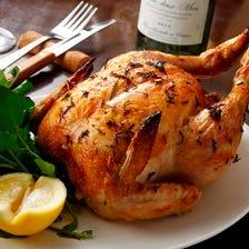 つくば鶏のロティサリーチキン