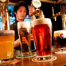 Draft Beer 【樽生ビール】は全部で4種類☆