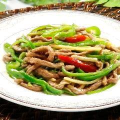 【上海名菜】牛肉細切りとピーマン炒め (青椒牛肉)