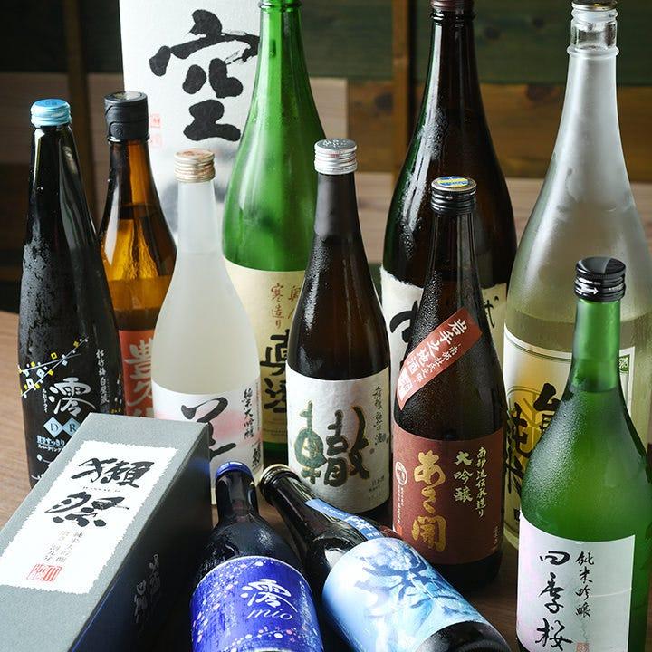 店長厳選!全国選りすぐりの焼酎や日本酒をご用意!
