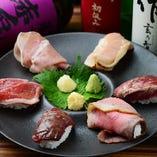 肉ずしと旬を盛り込んだ逸品をたっぷり楽しめるコースもご用意しています!
