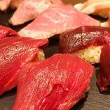 馬肉をはじめ、様々な肉のお寿司をご用意いたします。※7月より