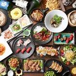 肉ずしをはじめ、地元愛知県岡崎市の地鶏を使用した料理、多彩な居酒屋メニューを豊富にご用意しております。心づくしの料理とお酒をご堪能ください♪