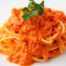 ズワイ蟹のトマトクリームソース