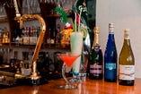 オーガニックワインやシャンパーニュ、スパークリングワインにカクテルやビールなど、豊富なMENUでお待ちしています!