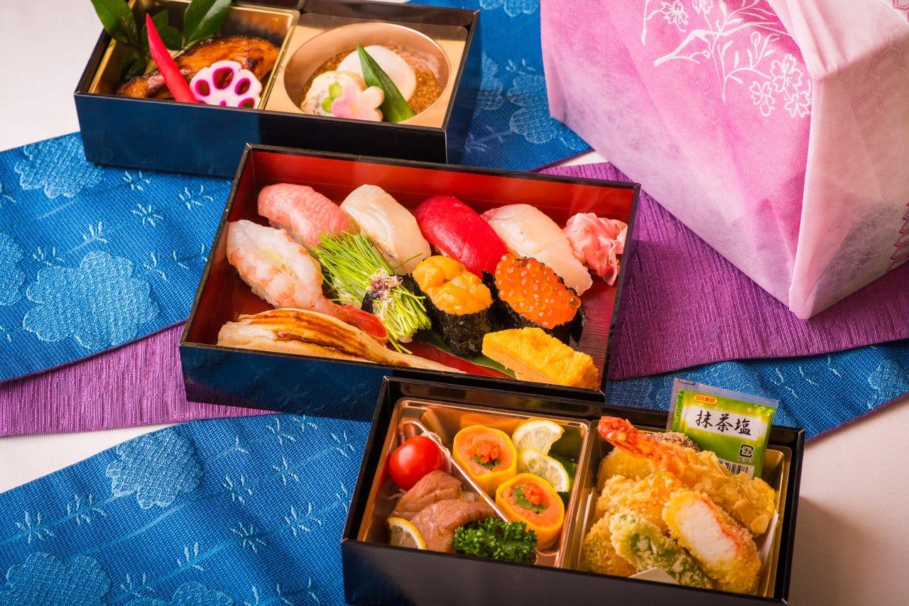 松寿司+和食2段 【特選3重弁当】
