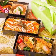 バラちらし+和食2段【3重弁当】
