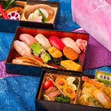 菊寿司の彩り豊な折詰弁当
