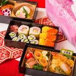 助六寿司+和食2段【3重弁当】