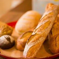自家製の天然酵母を使用したパン