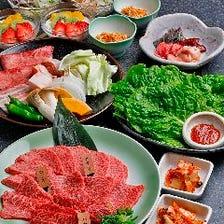 ◆ご家族やご友人同士の気軽な焼肉宴会に◎塩焼き盛りやタレ焼き3品盛りに舌鼓『ぎんすいコース』全11品