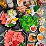 【コース】 人気の食べ飲み放題に選べる焼肉コースも3種類