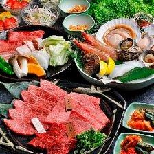 ◆会社宴会や女子会に◎鮮度抜群の海鮮盛り合わせも入った人気の焼肉コース『モリタ屋コース』全11品