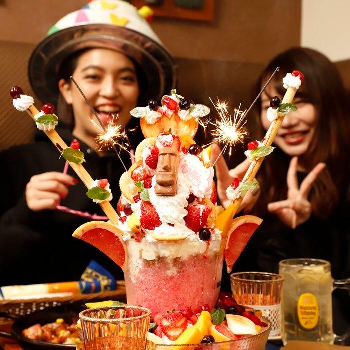 取材多数!夢の巨大パフェ→0円!◆