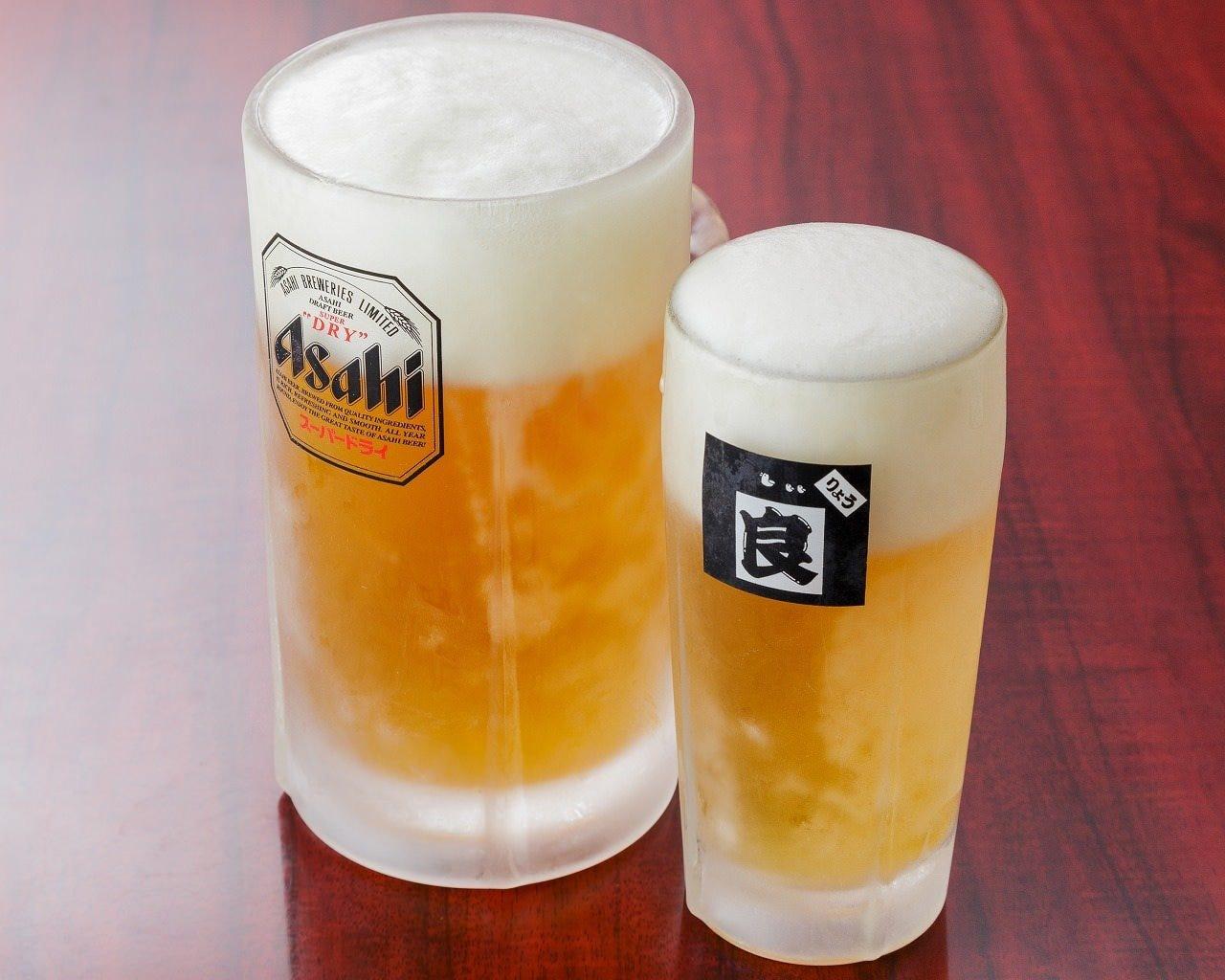 ビールはキンッキンに凍らせてます!疲れた体に染み渡る1杯♪