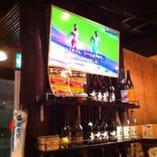 「TV」設置していますのでスポーツ中継etcの観戦も可能!!