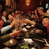 宴会コースは、わかりやすいポッキリ価格です!飲み放題付き!
