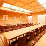 椅子とテーブルの大人数様向け完全個室(14〜34名様×1室)