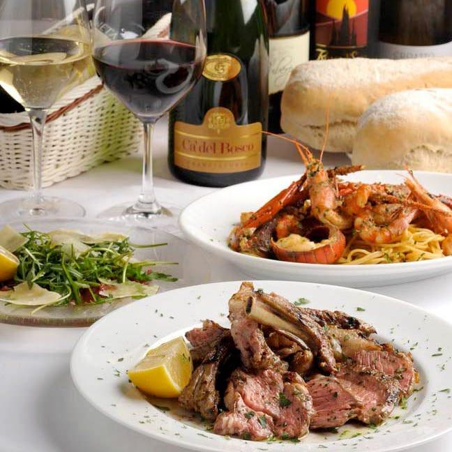 ピッツァと料理とワインで歓送迎会