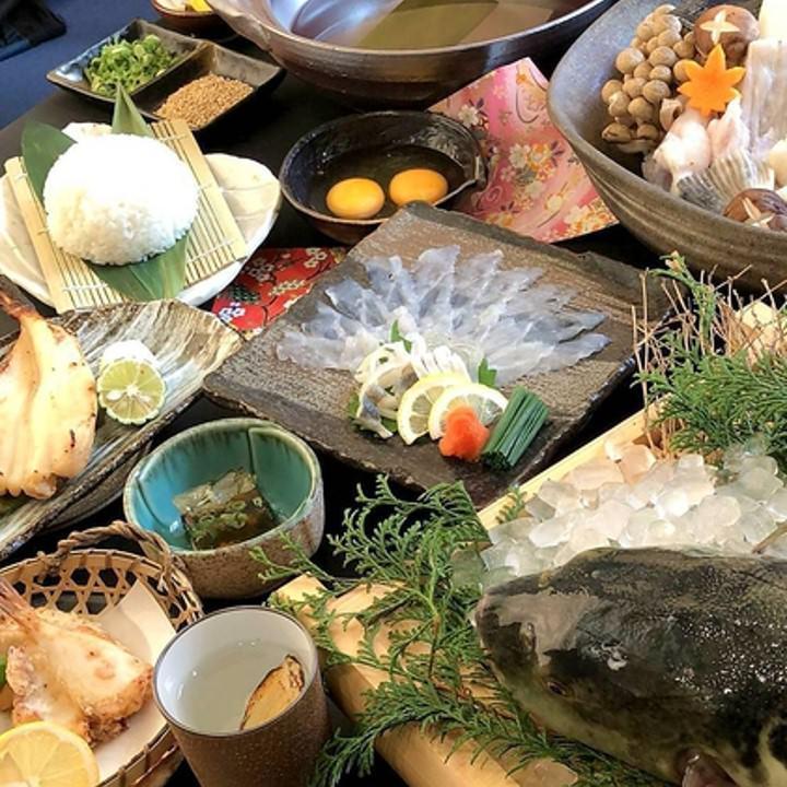 八潮自慢の活魚と旬の食材を用いた逸品が楽しめる料理コース!