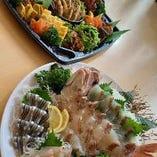 宴会オードブル&鯛の姿造りセット