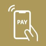 お会計時はコイントレイ使用、 非接触型決済も導入しております