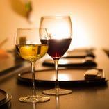 赤・白のワインで味わい深いマリアージュをお楽しみください♪