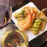 「天ぷら かねき」のコースもございます。 詳細はご予約時ご確認下さいませ。