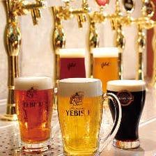 樽生ビールと厳選のクラフトビール!