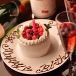 お誕生日特典ケーキプレゼント!!