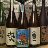 熊本産の地酒や焼酎多数揃えております。