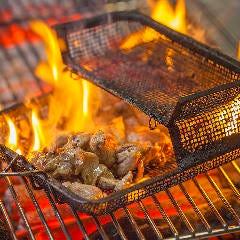 黒さつま鶏もも炭火網焼き