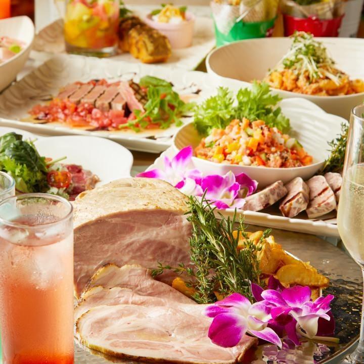 南国の爽やかな風を纏った多彩な料理