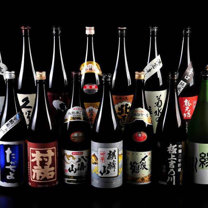 各コース+500円(税込)で越後の地酒15種類の飲み放題!!