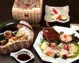 旬の京野菜や鮮魚の京料理を手軽に 堪能できる月替わりの京会席