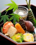 京都でとれる四季折々の彩りを 料理に映し出した季節の京料理