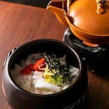 イカ明太バターの土鍋ごはん