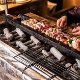 【串はじっくり炭火焼き】 上田の美味だれをかけて召し上がれ♪