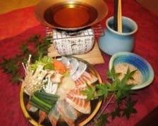 新鮮魚介の海鮮しゃぶしゃぶ