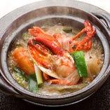 オマール海老と春雨の土鍋煮込み