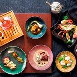『瑠璃プラン 個々盛りスタイル】』お一人様ずつ盛り付けされたお料理をご提供するコース。
