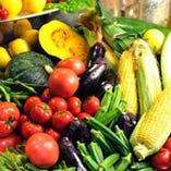 使用する野菜は、新鮮な物を店主自ら厳選しています。