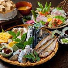 焼物メイン「まそほコース」厳選一夜干しと浜焼き、西京味噌漬け魚など《全11品》宴会 飲み会 パーティー