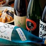 《日本酒》 京都の蔵元を中心に厳選した月替わりの地酒は2種類