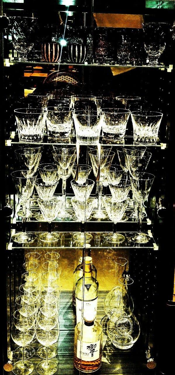 バカラや切子などの高級グラス