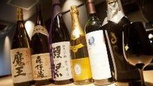 焼酎や日本酒など 和酒15種以上
