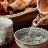 厳選された日本酒が豊富。