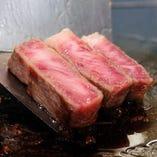 滴る肉汁・とろける食感 鉄板焼ステーキの醍醐味です