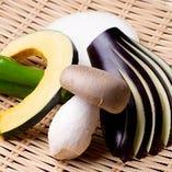季節の焼き野菜 5種
